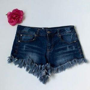 Alter'd State Frayed Denim Shorts